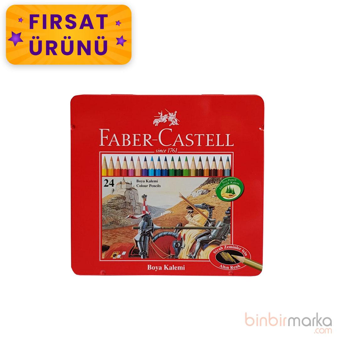 Faber-Castell Metal Kutu Boya Kalemi 24 Renk
