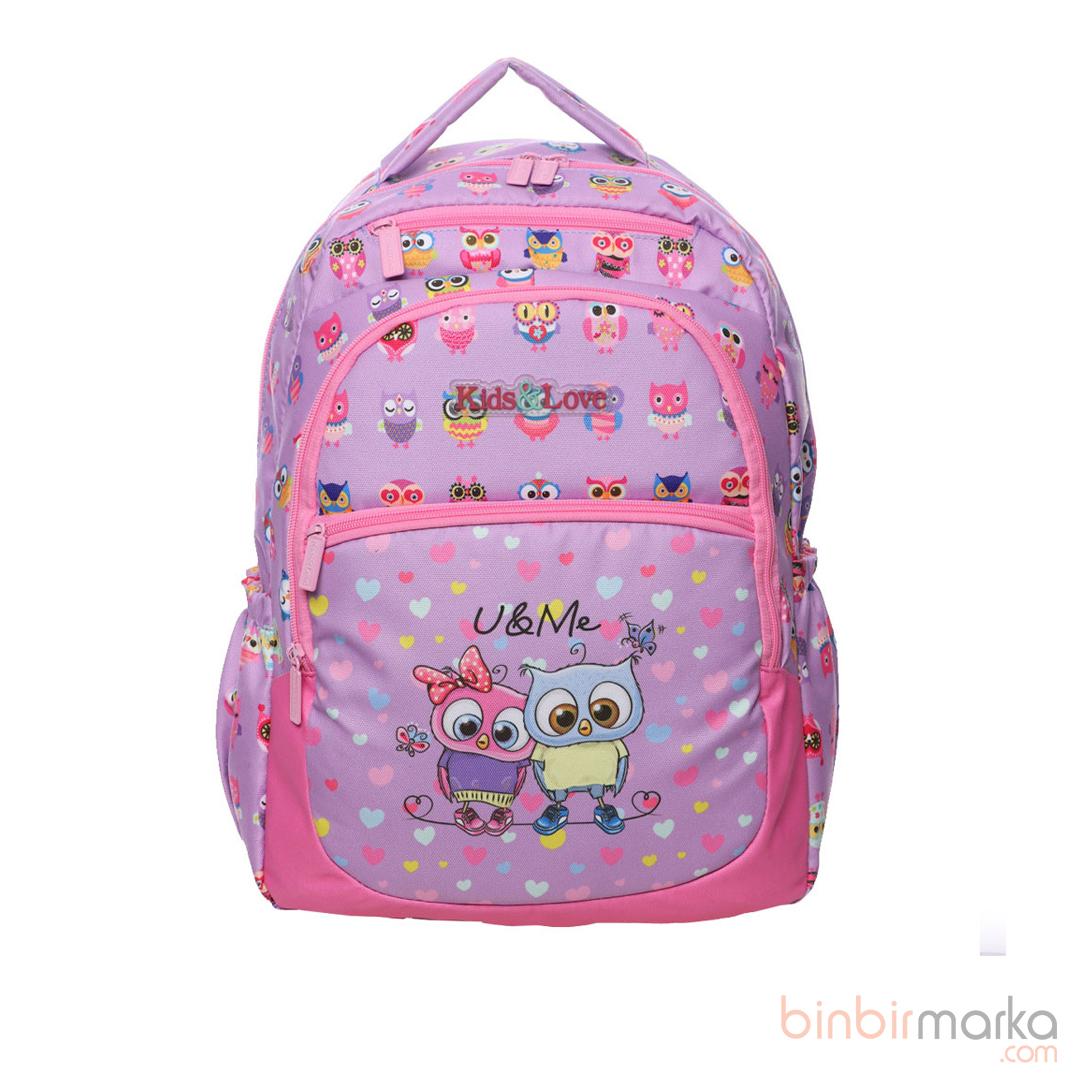 Kaukko Kids Love Design Sırt Çantası Owl L5050