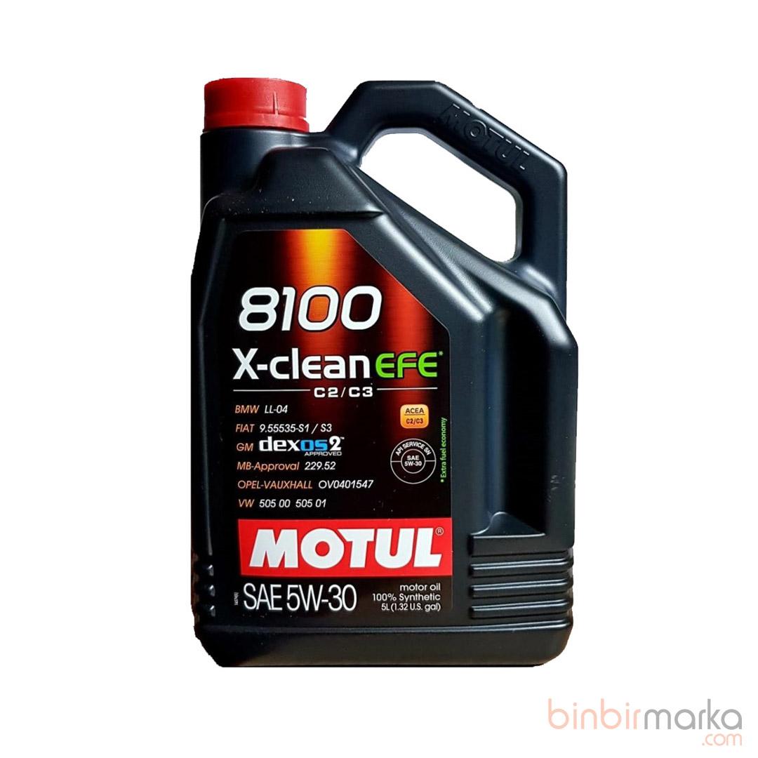 Motul 8100 X-Clean Efe C2/C3 SAE 5W-30 5LT(Üretim:2021)