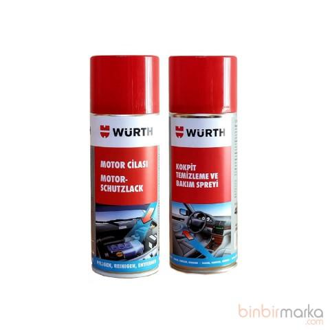 Würth Kokpit temizleme 400 ml + Motor Cilası 400 ml